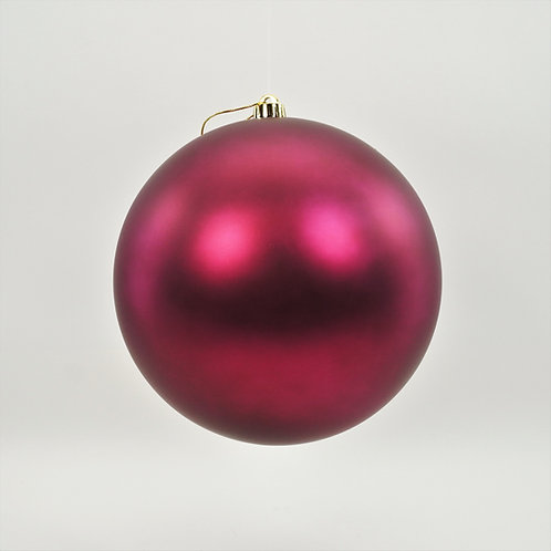 MATTE BURGUNDY BALL ORNAMENT