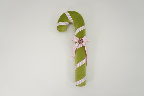 CANDY CANE ICED 15IN GREEN