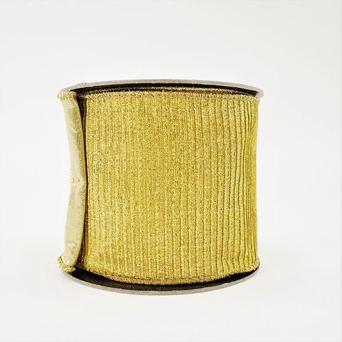 RIBBON PLEATED METALLIC GOLD