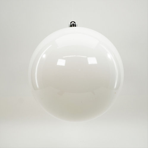 SHINY WHITE BALL ORNAMENT