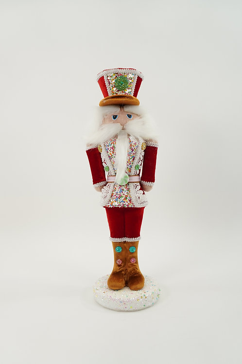 NUTCRACKER SOLDIER RED  16IN