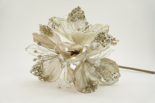 AMARYLLIS X3 GLITTERED LIGHT IVORY WITH A TOUCH OF PLATINUM