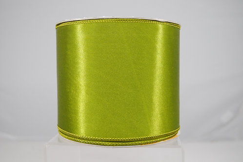RIBBON SATIN SHEEN 4X10 GREEN