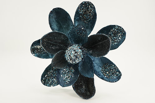 MAGNOLIA STEM GLITTER BLUE 12 WIDE
