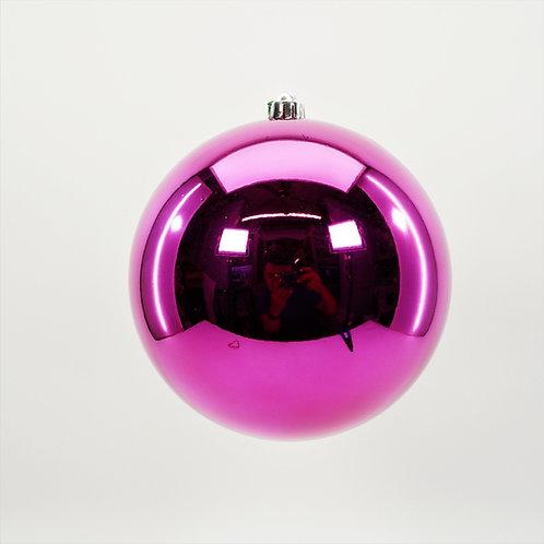 SHINY  FUSCHIA BALL ORNAMENT
