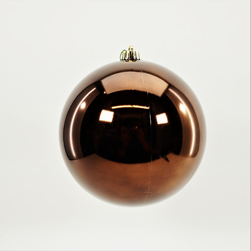 SHINY BROWN BALL ORNAMENT
