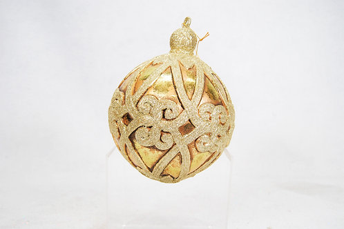 BALL FILAGREE 8IN ANTIQUE GOLD