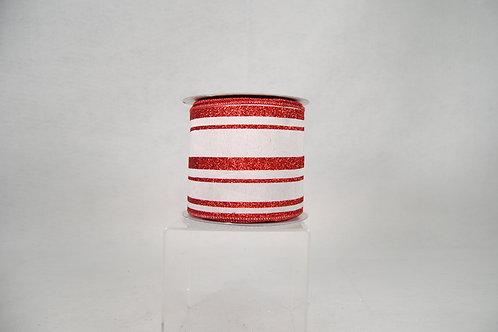 RIBBON CANDY BAR 4X10 RED/WHT