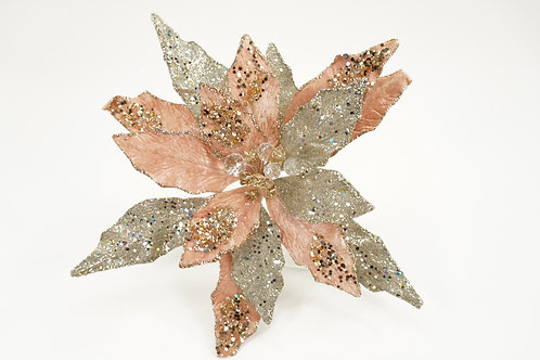 CLIP POINSETTIA XL ROSE GOLD