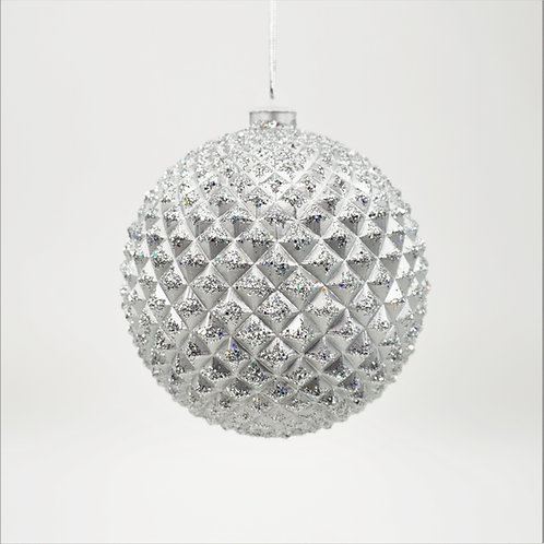 DURIAN BALL 130MM SILVER WITH GLITTER