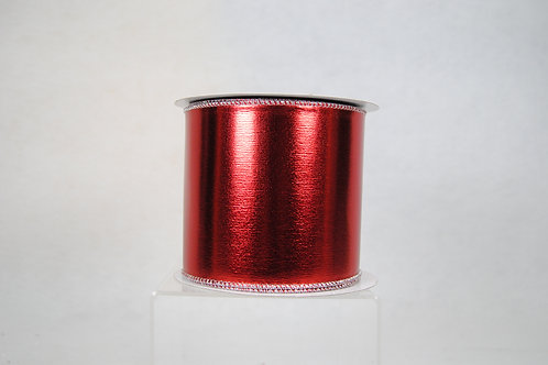 RIBBON MIRROR MIRROR 4X10 RED/SIL