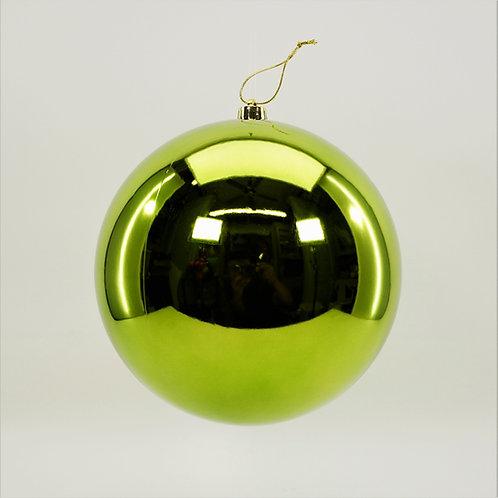 SHINY LIME GREEN BALL ORNAMENT