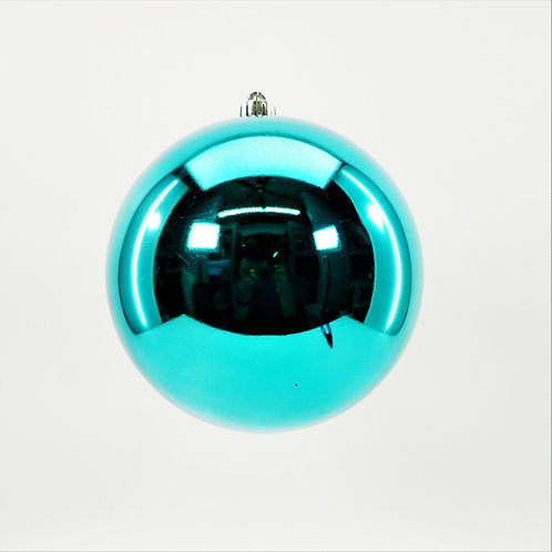 SHINY TEAL BALL ORNAMENT