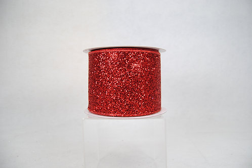 RIBBON GLITTER MAGIC 4X10 RED