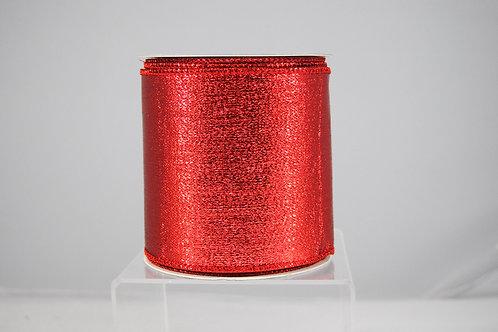 RIBBON METALLIC MESH 4X10 RED