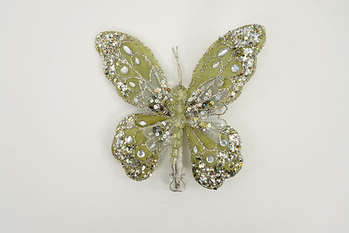 BUTTERFLY WITH CLIP MEDIUM SOFT GREEN