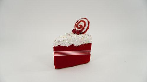CAKE SLICE 6IN RED