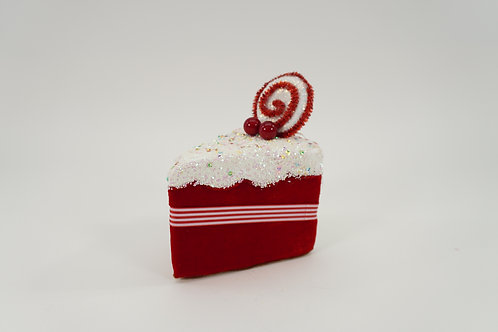CAKE SLICE 6IN RED