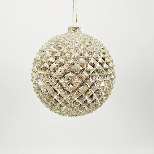 DURIAN BALL 130MM CHAMPAGNE WITH GLITTER