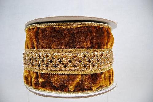 RIBBON JEWEL LACE 4X5 GOLD