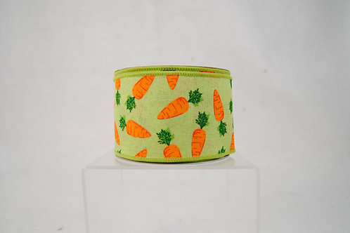 RIBBON CARROTS 2.5X10 GREEN AND ORANGE