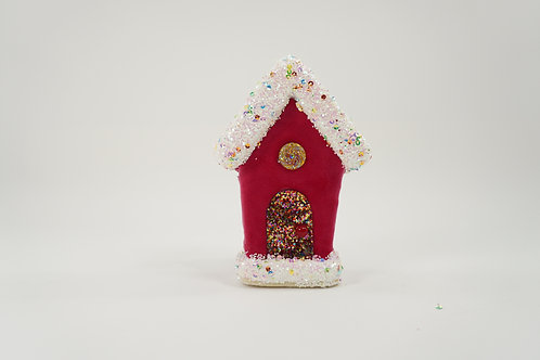 GINGERBREAD HOUSE 6IN HOT PiNk