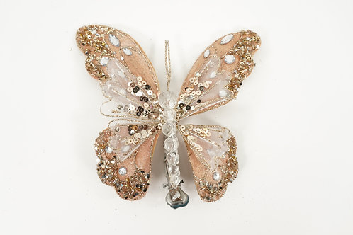 BUTTERFLY W/CLIP M ROSEGOLD