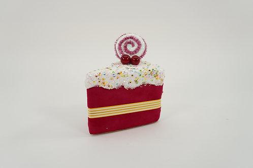 CAKE SLICE 6IN HOT PINK