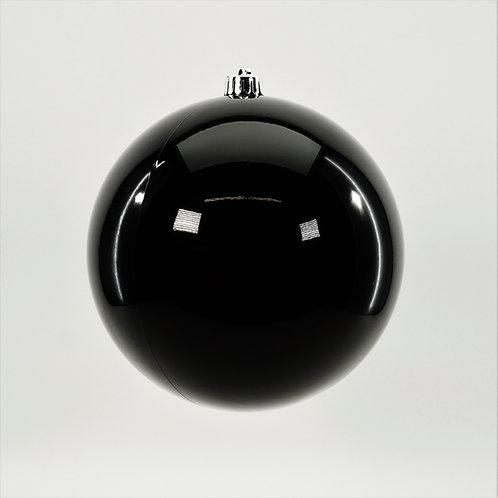 SHINY BLACK BALL ORNAMENT