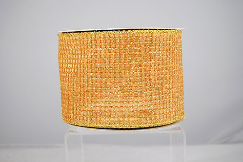 RIBBON GLITZ NET 4X10 GOLD