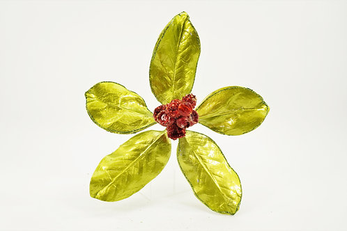 MAGNOLIA LEAF X5 GREEN WITH RED BERRIES