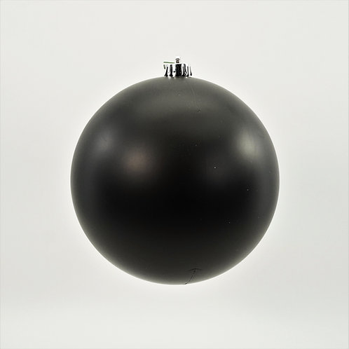 MATTE BLACK BALL ORNAMENT
