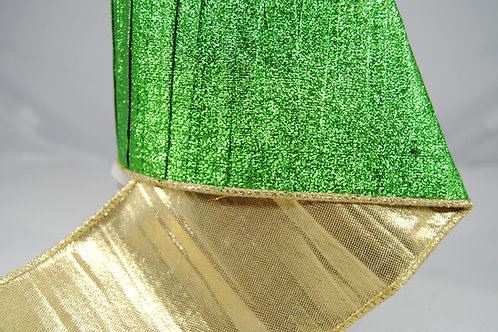 RIBBON PLEATED MET 4X10 LIME