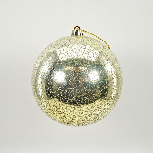 BALL WITH CRACKLE GLITTER CHAMPAGNE GOLD