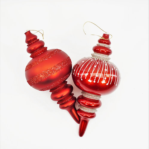 FINIAL MULTI AND RED WITH GLITTER