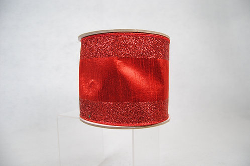 RIBBON GLITTER CANDY 4X10 RED