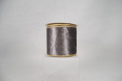 RIBBON ROYAL VELVET 4X10 SILV/GLD