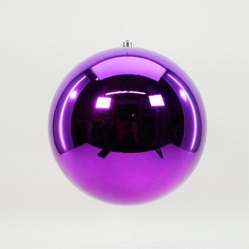 SHINY PURPLE BALL ORNAMENT