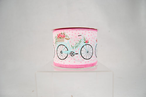 RIBBON BICYCLES 2.5X10 WHITE AND PINK