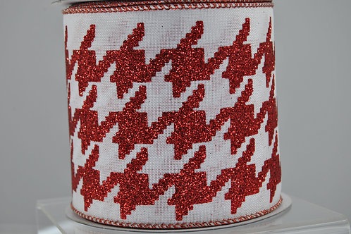 RIB HOUNDSTOOTH 4X10 RED