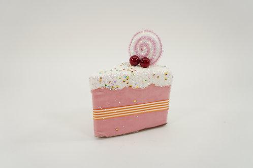 CAKE SLICE 6IN PINK