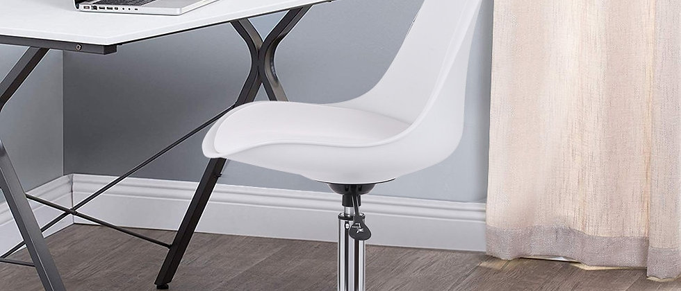 White Armless Office Chair