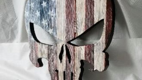 American Flag Theme Punisher Skull