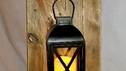 Rustic Wooden Wall Sconce Lantern