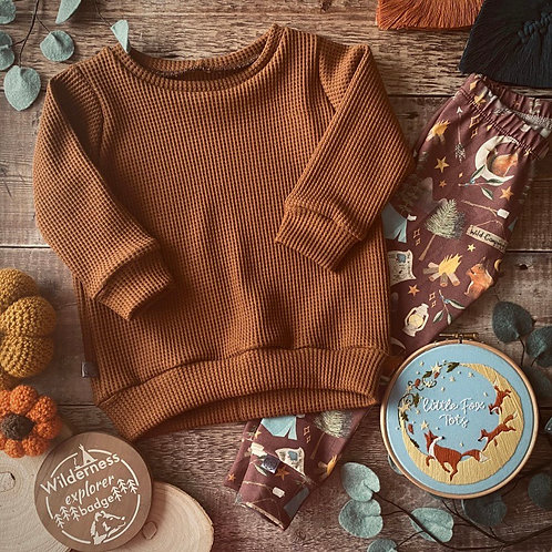 Caramel Waffle Knit Jumper