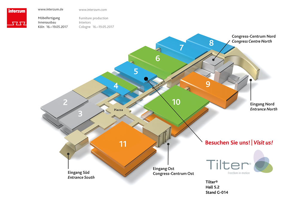 interzum 2017 hall map