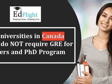 Study in Canada without GRE !!