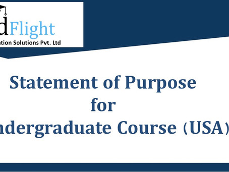 Sample Statement of Purpose (SOP) for UG Courses in USA