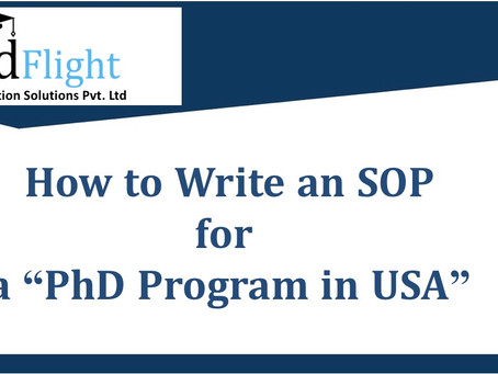 How to write SOP for PhD program in USA?