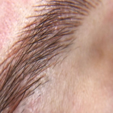 Close up of hair strokes
